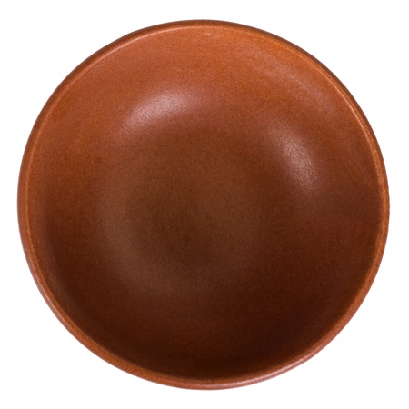 Close-up of a brown ceramic bowl