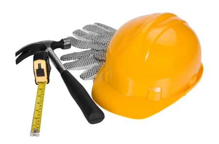 Close-up of construction equipment Stock Photo