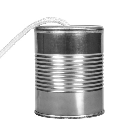 Close-up of a tin can phone Stock Photo - 10236943