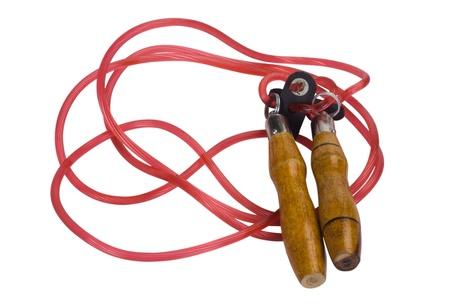 saltar la cuerda: Primer plano de una cuerda de saltar