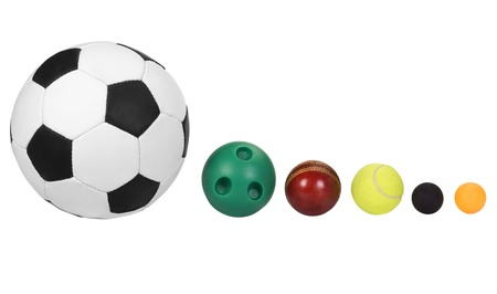 Balls arranged in descending order Imagens