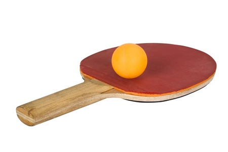 toge: Close-up of a table tennis racket with a ball