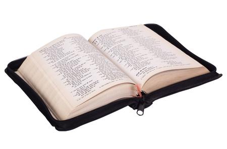 bible ouverte: Gros plan sur la Bible ouverte