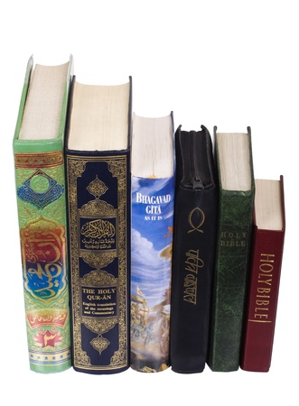 Holy books of Islam, Hinduism and Christianity religions