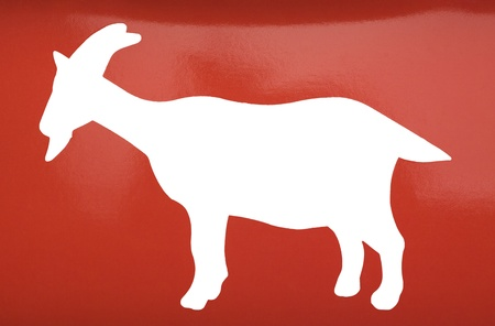 Silhouette of a goat photo