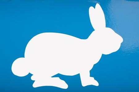 Silhouette of a hare Banco de Imagens