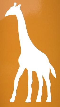 Silhouette of a giraffe Reklamní fotografie