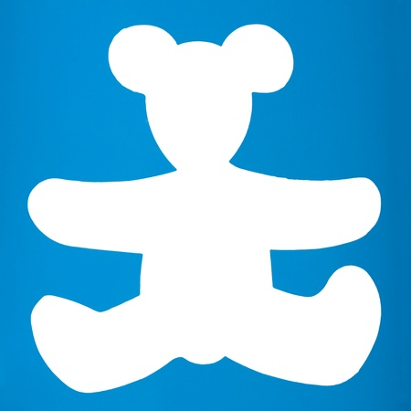 Silhouette of a teddy bear photo