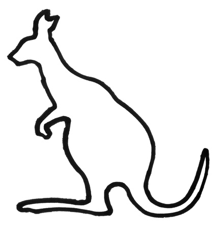 Outline of a kangaroo Reklamní fotografie