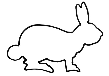 Outline of a hare Imagens