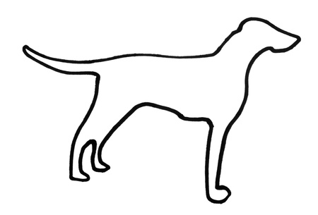 Outline of a dog Stock Photo - 10234447