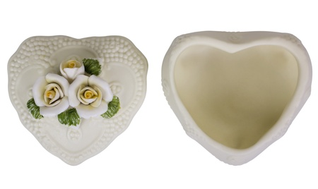 Close-up of a heart shaped container photo