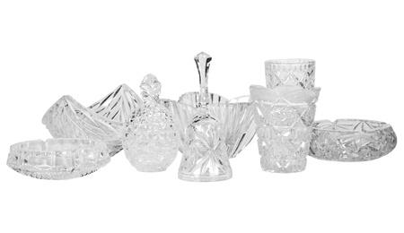 showpiece: Assorted crystal utensils Stock Photo