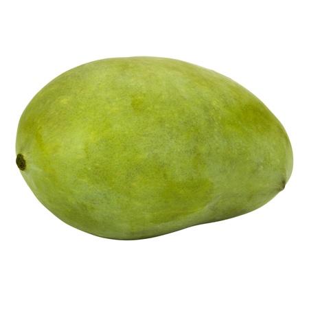 Close-up van een groene mango