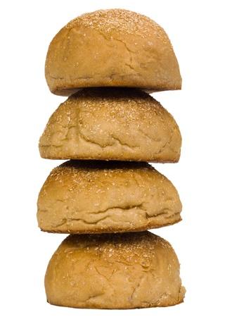 Close-up of stack of buns 免版税图像