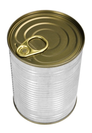 sardine can: Close-up of a metal container