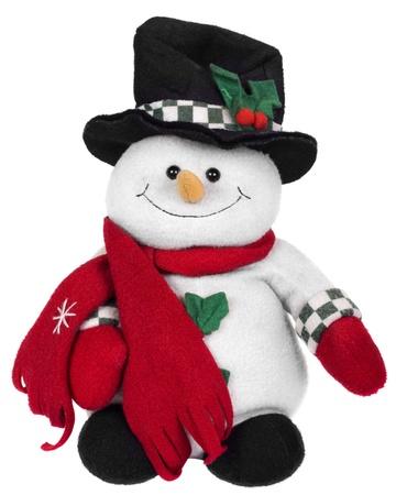stuffed toy: Stuffed snowman toy Stock Photo