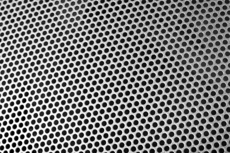 Close-up of a speaker Stock Photo