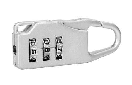 Close-up of a combination lock photo