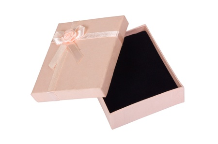 Close-up of an empty gift box photo