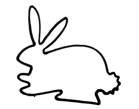 Outline of a hare Stock fotó