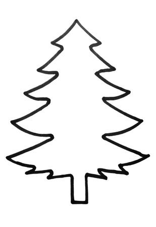 tree outline: Outline of a Christmas tree