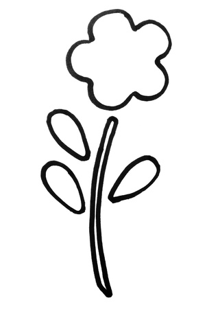 Outline of a flower