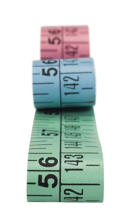 Close-up of tape measures photo