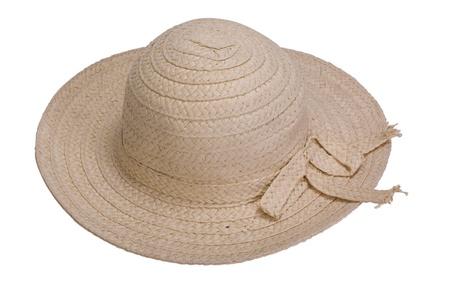 straw hat: Close-up di un cappello di paglia Archivio Fotografico