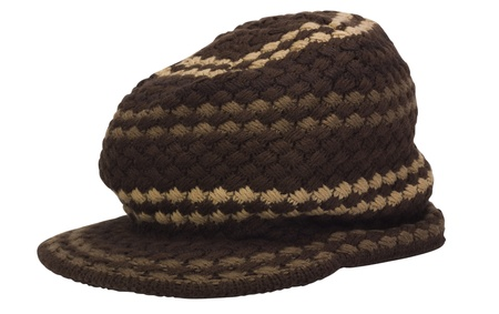 flat cap: Close-up of a flat cap Stock Photo