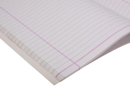 Close-up of an open notebook