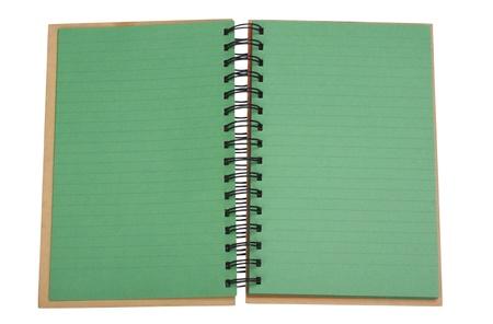 Close-up of a spiral notebook Imagens