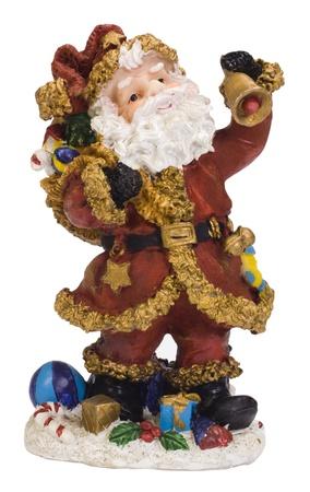 Close-up of a figurine of Santa Claus photo