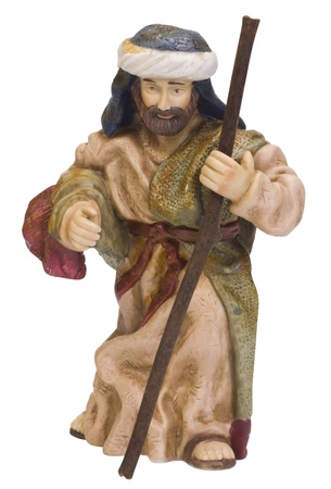 named person: Close-up of a figurine of Saint Joseph