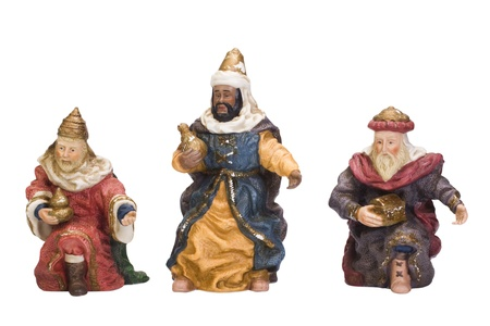 Figurines of Three Wise Men Stock Photo