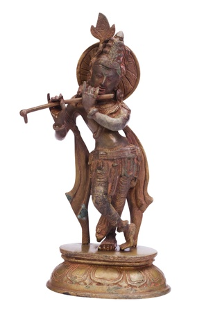 handicrafts: Close-up of a figurine of Lord Krishna