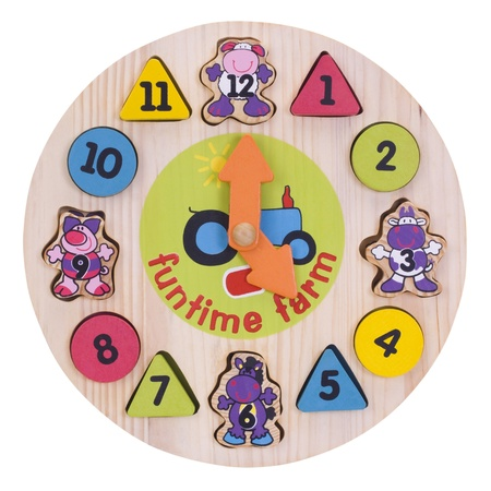 Close-up of a toy wall clock
