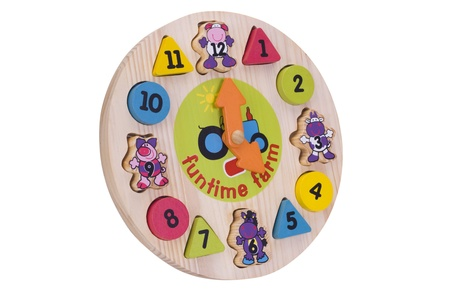 Close-up of a toy wall clock photo