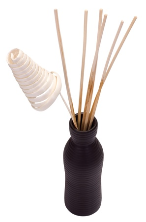 showpiece: Close-up of incense sticks in a bottle