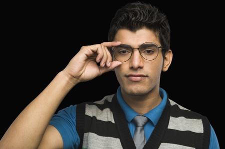 Portrait of a man wearing eyeglasses Stock Photo - 10238933