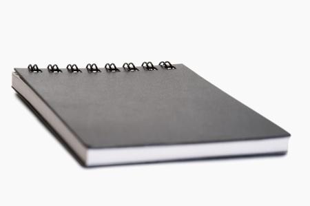 Close-up of a spiral notebook photo