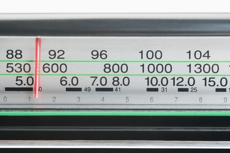 Receiver dial of a radio 版權商用圖片