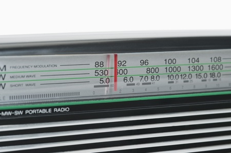 short wave: Receiver dial of a radio Stock Photo