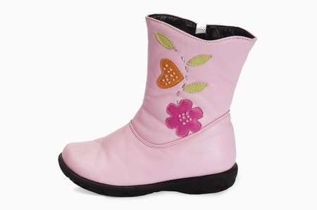 wellie: Close-up of a rubber boot