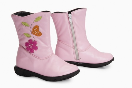 wellie: Close-up of a pair of rubber boots Stock Photo
