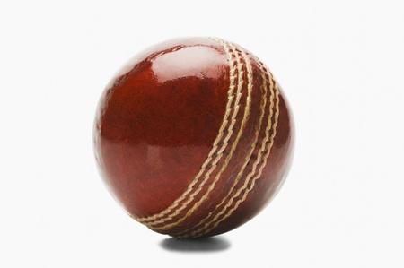cricket ball: Close-up of a cricket ball Stock Photo