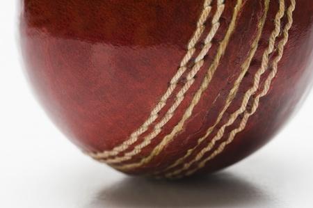 クリケットのボールのクローズ アップ 写真素材