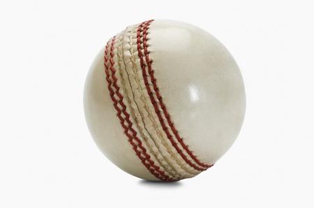 Close-up van een cricket bal Stockfoto
