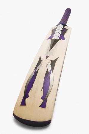 cricket bat: Close-up of a cricket bat