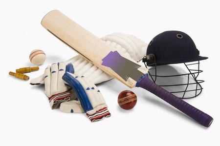 Close-up van cricket apparatuur